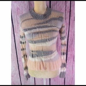 A.L.C. Stripe Wool Blend Pullover Sweater